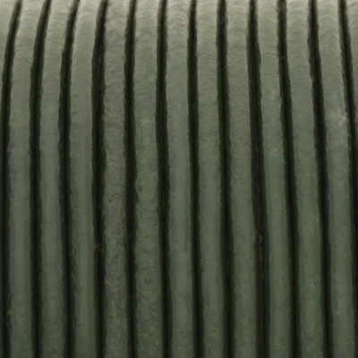 Rundriemen, Lederschnur, 100cm, 1,5mm, ARMEE GRÜN
