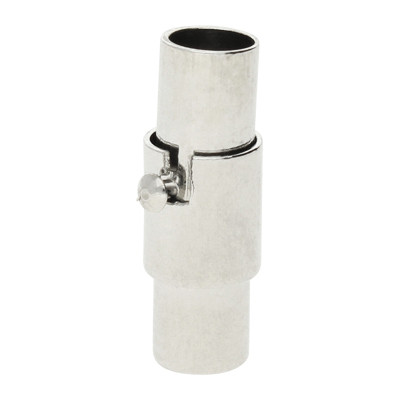 Magnetverschluss, 4mm, 15x5mm, Metall, Platinfarben