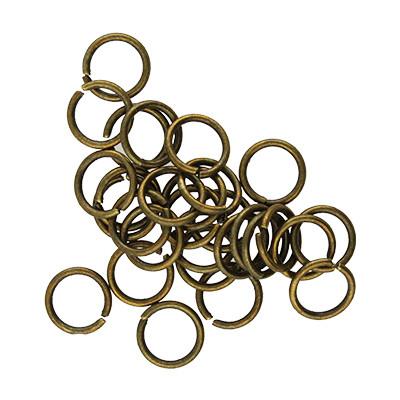 Bindering, rund, 10 Stück, 10mm, innen 8mm, Metall, bronzefarben