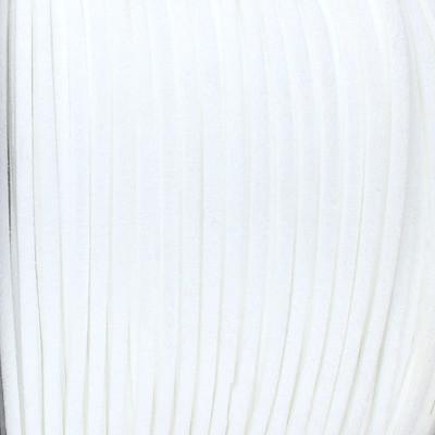 Textilband in Wildlederoptik (100cm), 2,5 mm breit - WEISS