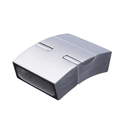 Magnetverschluss, 28x20x8mm, innen 17x5mm , Edelstahl, silberfarben matt