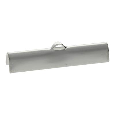 Flache Endkappe, 30x5mm, Metall, silberfarben