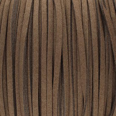 Textilband in Wildlederoptik (100cm), 2,5mm breit - TAUPE