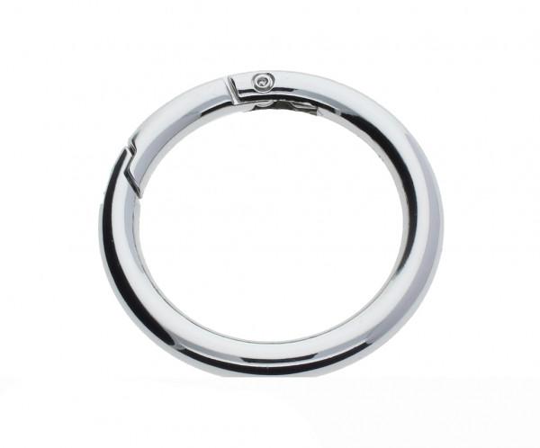 Ringverschluss, rund, 1 Stück, 52x6, ZAMAK, silberfarben
