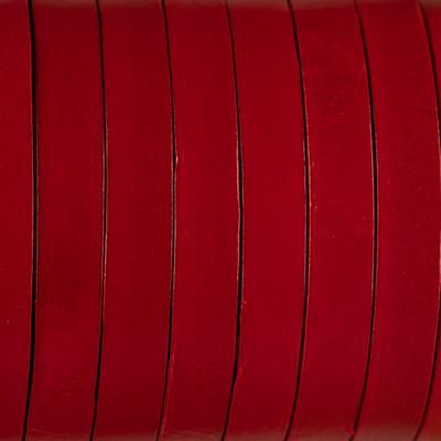 Flachriemen Rindsleder, 100cm, 10x2,5mm, ROT