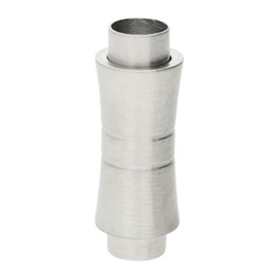 Magnetverschluss, 6mm, 26x9,5x6mm, Edelstahl, silberfarben