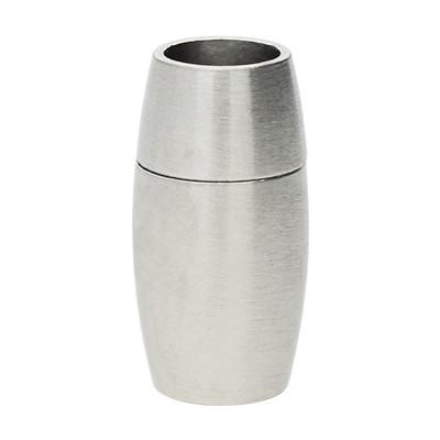 Magnetverschluss, 6mm, 19x10mm, Edelstahl, matt, silberfarben