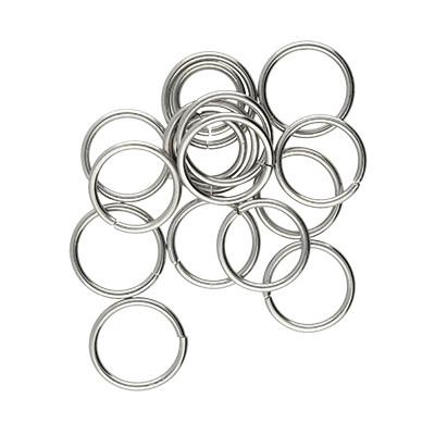 Bindering, rund, 10 Stück, 10x1mm, Edelstahl