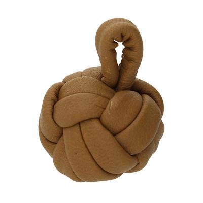 Affenfaust aus Nappalder, sehr soft, Ø ca. 15mm, COGNAC