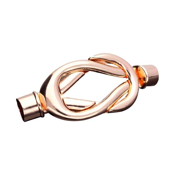 Magnetverschluss, 5mm, 40x20mm, Metall, roségoldfarben