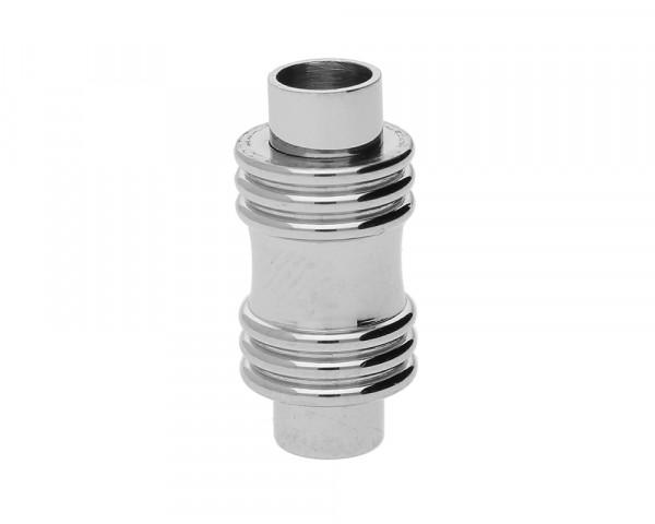 Magnetverschluss, 4mm, 17x8mm, Edelstahl, glänzend