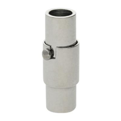 Magnetverschluss, 4mm, 18x6mm, Edelstahl, Platinfarben