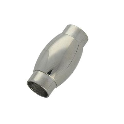 Magnetverschluss, 6mm, 20x10mm, Edelstahl, silberfarben