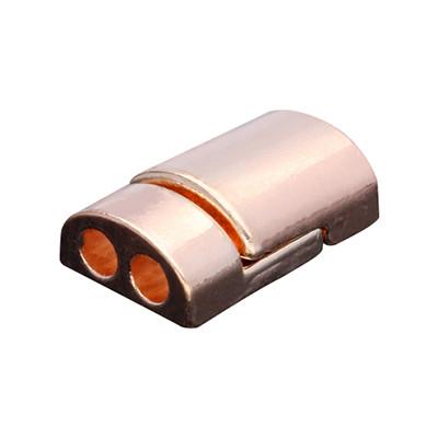 Magnetverschluss, 3mm, 19x12x6mm, Metall, roségold