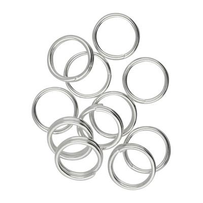 Spiralring, rund, 10 Stück, 7mm, innen 5,5mm, Edelstahl, silberfarben