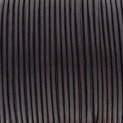 Rundriemen, Lederschnur, 100cm, 1,5mm, AUBERGINE