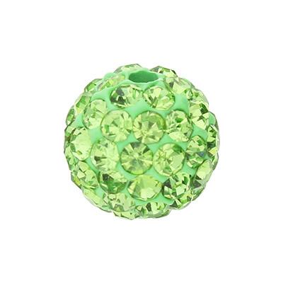 Strassperle, innen 1,5mm, Ø 10mm, grün, Harz
