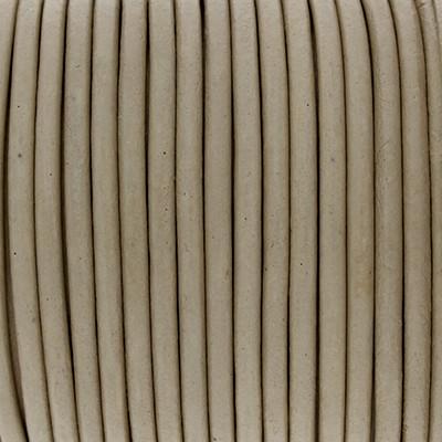 Rundriemen, Lederschnur, 100cm, 3mm, NATUR