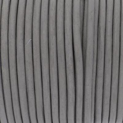 Rundriemen, Lederschnur, 100cm, 3mm, HELLGRAU
