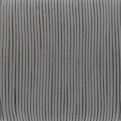 Rundriemen, Lederschnur, 100cm, 1mm, MAUSGRAU