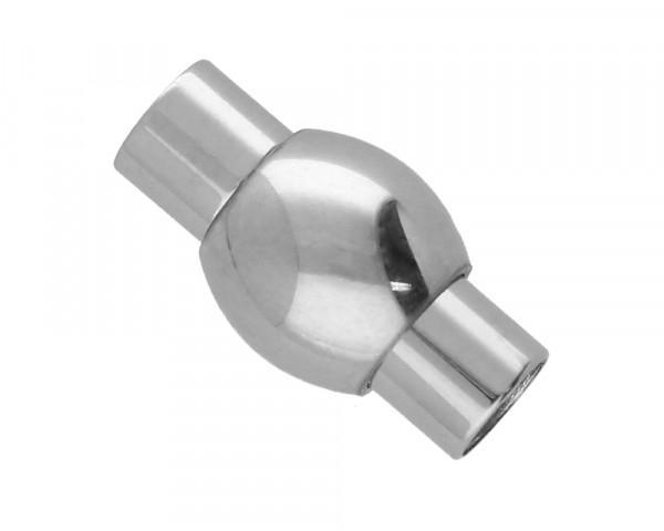 Magnetverschluss, 5mm, 17x9mm, Edelstahl, silberfarben