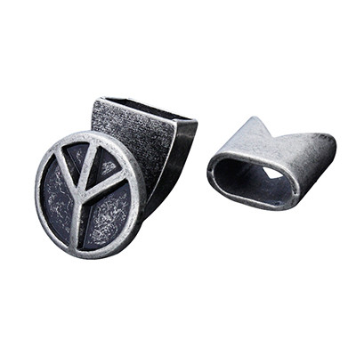 Armbandhaken-Verschluss, 15x15mm, Metall, schwarz, Kappe 13x13mm, innen 10x5mm