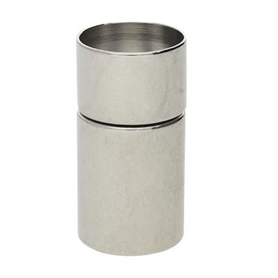 Steckverschluss, 11x22mm, innen 10mm, Metall, silberfarben