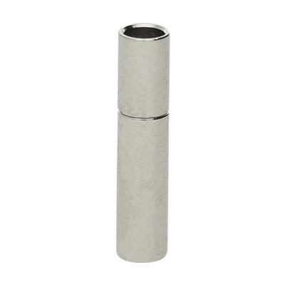 Steckverschluss, 2,5mm, 17x3,5mm, Metall, silberfarben