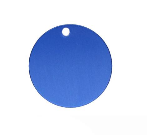 Anhänger, rund, Ø 32mm, blau, eloxiertes Aluminium