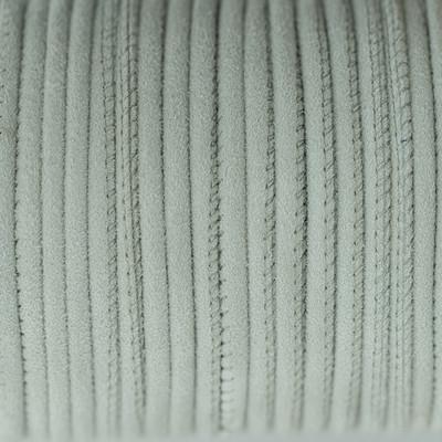Veloursleder rund gesäumt, 100cm, 4mm, HELLGRAU
