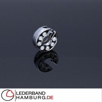 Slidercharm, Buchstabe C, 12x13x4, innen 8x2mm, silberfarben, Metall