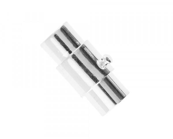 Magnetverschluss, 5mm, 15x7mm, Metall, silberfarben