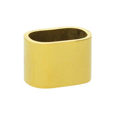 Slider, innen 11x7mm, 9x13x9mm, goldfarben, Edelstahl