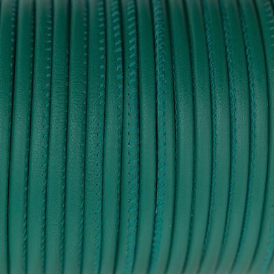 Premium Nappaleder rund gesäumt, 100cm, 4mm, OPALGRÜN