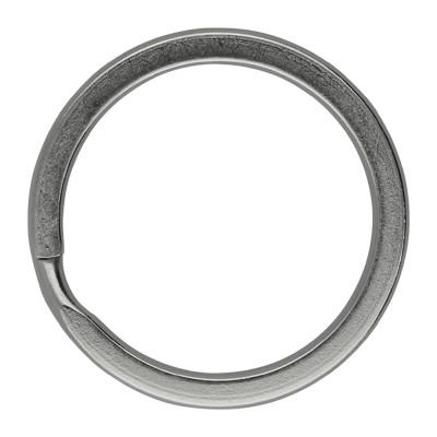 Schlüsselring, Spiralring, rund, 1 Stück, 28x3mm, Edelstahl, silberfarben