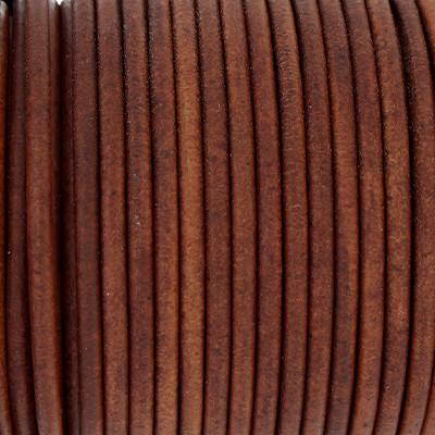 Rundriemen, Lederschnur, 100cm, 3mm, VINTAGE TANDORI SPICE
