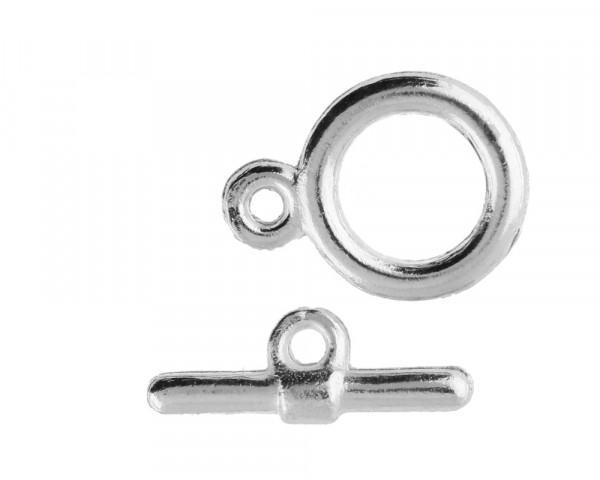 Knebelverschluss, 11x16mm, 17x7mm, Metall, silberfarben