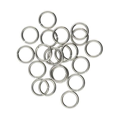 Bindering, rund, 10 Stück, 8x1mm, Edelstahl