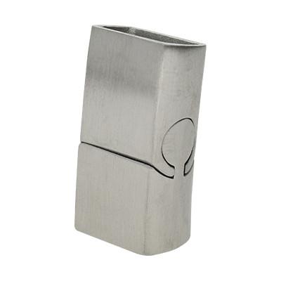 Magnetverschluss, 25x13x8mm, innen 12x6mmmm, Edelstahl matt, silberfarben