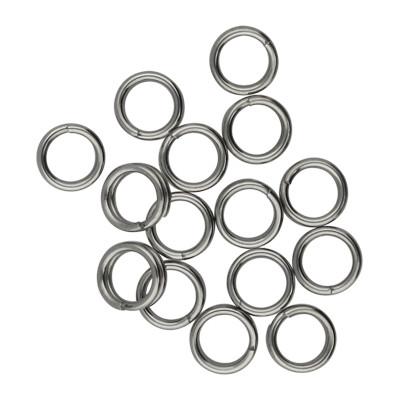 Spiralring, rund, 10 Stück, 5mm, innen 3,5mm, Edelstahl, platinfarben