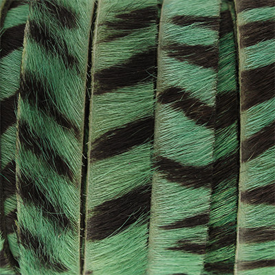 flaches Lederband aus Kuhfell 10x2mm - ZEBRA GRÜN, glatte Rückseite aus Nappaleder