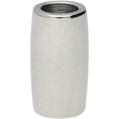 Magnetverschluss, 6mm, 18x9,5mm, Edelstahl, silberfarben