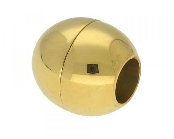 Magnetverschluss, 5mm, 13x13mm, Edelstahl, goldfarben