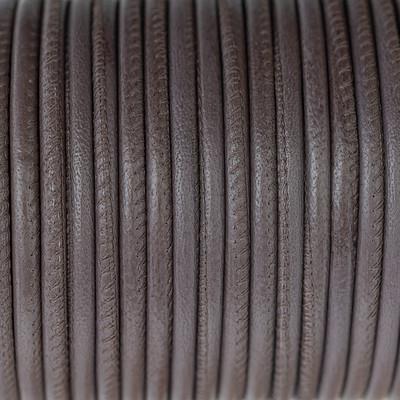 Nappaleder rund gesäumt, 100cm, 4mm, MEDIUM TAUPE
