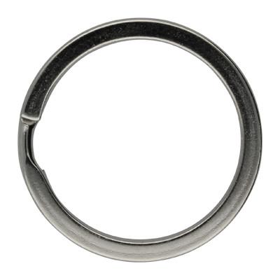 Schlüsselring, Spiralring, rund, 1 Stück, 30x3mm, Metall, silberfarben