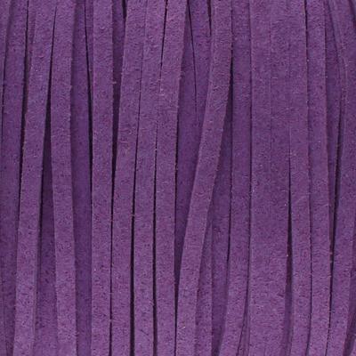 Textilband in Wildlederoptik 2,5mm - METALLIC LILA
