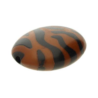 Perle aus Acryl, 24x19mm oval, innen 2mm, sattelbraun