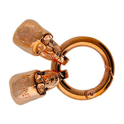 Armbandverschluss, Totenkopf, 8mm, 56x25x12mm, Metall, roségold