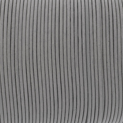 Rundriemen, Lederschnur, 100cm, 1,5mm, MAUSGRAU