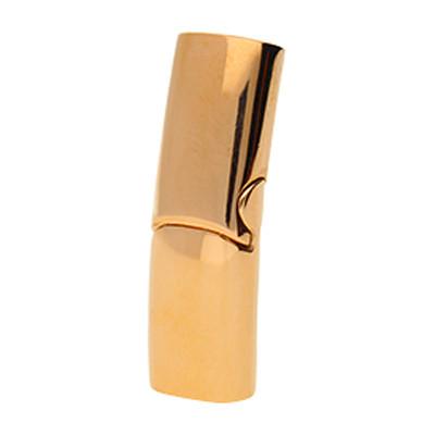 Magnetverschluss, 28x9x6.5mm, innen 7x4mm, roségoldfarben, Edelstahl